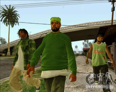Grove Street Family HQ Skins для GTA San Andreas