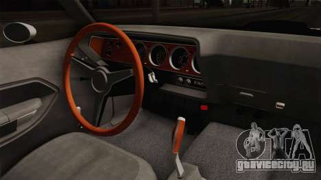 Plymouth Hemi Cuda 426 Police LVPD 1971 для GTA San Andreas вид изнутри
