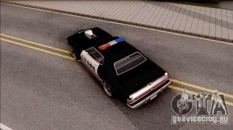 Ford Gran Torino Police LVPD 1975 v3 для GTA San Andreas вид сзади