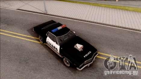 Ford Gran Torino Police LVPD 1975 v3 для GTA San Andreas вид справа