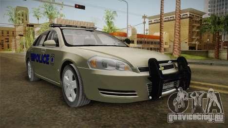 Chevrolet Impala Police для GTA San Andreas