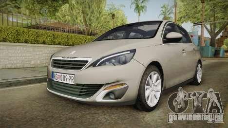 Peugeot 308 2017 для GTA San Andreas