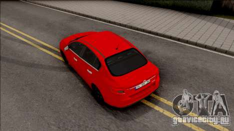 Fiat Tipo Netron Tuning для GTA San Andreas вид сзади