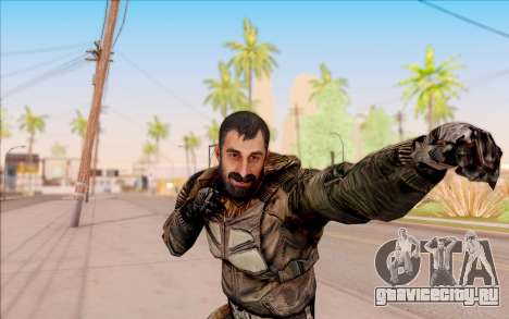 Вано из S.T.A.L.K.E.R. в комбинезоне СЕВА для GTA San Andreas шестой скриншот
