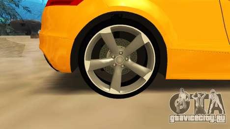 Audi TT RS Afonya TV для GTA San Andreas вид изнутри