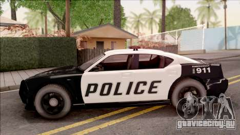 Dodge Charger Police Cruiser Lowest Poly для GTA San Andreas вид слева