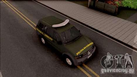 Mitsubishi Pajero Army Police of Brazil для GTA San Andreas вид справа