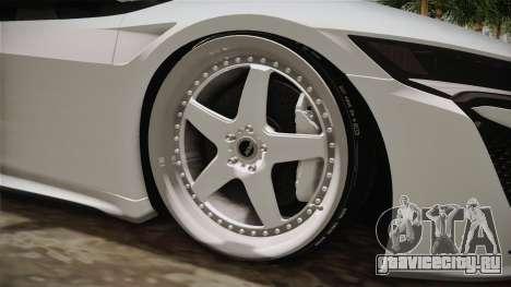 Acura NSX Stance 2017 для GTA San Andreas вид сзади