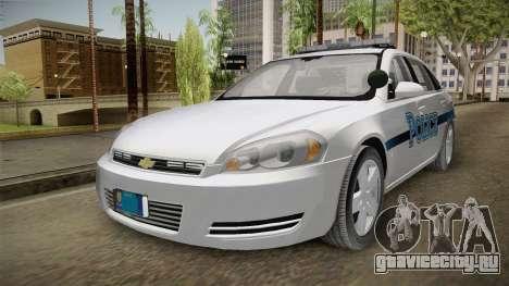 Chevrolet Impala 2011 Police для GTA San Andreas вид сзади слева