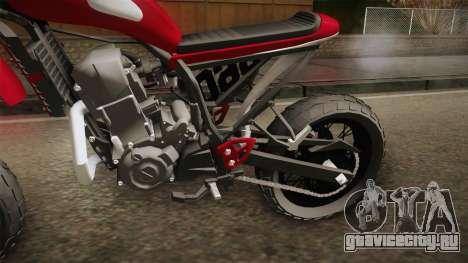 Yamaha XT660 Scrambler для GTA San Andreas вид сзади