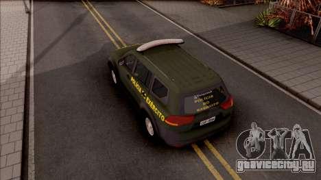 Mitsubishi Pajero Army Police of Brazil для GTA San Andreas вид сзади