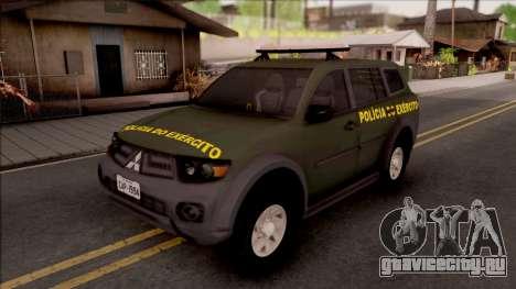Mitsubishi Pajero Army Police of Brazil для GTA San Andreas