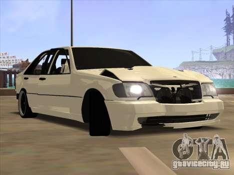 Mercedes-Benz S63 Brabus для GTA San Andreas вид сзади