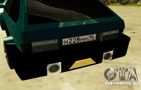 VAZ 2108 SRT8 для GTA San Andreas вид сзади
