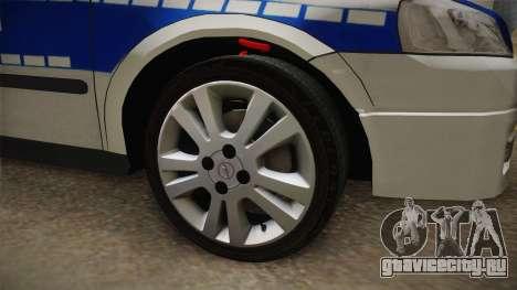 Opel Astra G Politia Romana для GTA San Andreas вид сзади