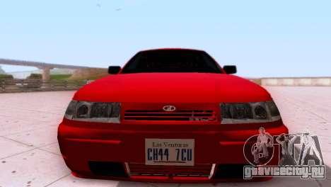 VAZ 2112 SA Plates для GTA San Andreas вид сзади