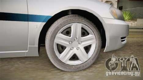 Chevrolet Impala 2011 Police для GTA San Andreas вид сзади
