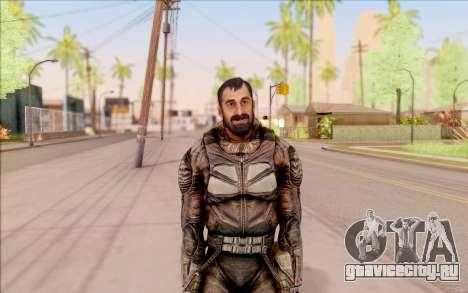 Вано из S.T.A.L.K.E.R. в комбинезоне СЕВА для GTA San Andreas второй скриншот
