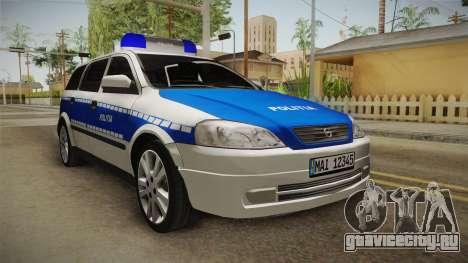 Opel Astra G Politia Romana для GTA San Andreas