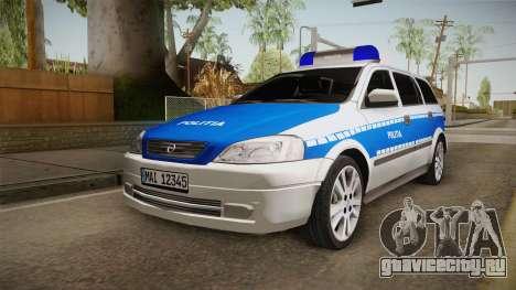 Opel Astra G Politia Romana для GTA San Andreas вид сзади слева