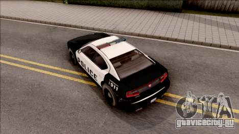 Dodge Charger Police Cruiser Lowest Poly для GTA San Andreas вид сзади