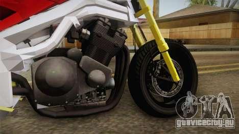 Honda CBR 1100CC Street Fighter Cipher для GTA San Andreas вид сзади