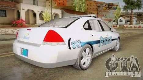 Chevrolet Impala 2011 Police для GTA San Andreas вид слева