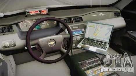 Chevrolet Impala 2011 Police для GTA San Andreas вид изнутри