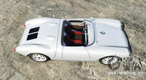 Porsche 550A Spyder 1956 [add-on] для GTA 5 вид сзади