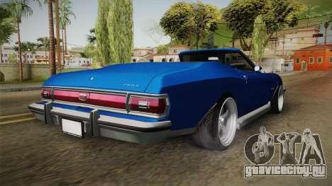 Ford Gran Torino Cabrio 1975 для GTA San Andreas вид справа