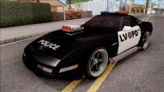 Chevrolet Corvette C4 Police LVPD 1996 v2 для GTA San Andreas