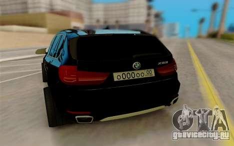 BMW X5 для GTA San Andreas вид сзади слева