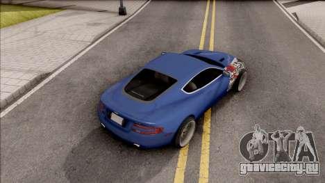 Aston Martin DB9 Drift Style - Drift Handling для GTA San Andreas вид сзади