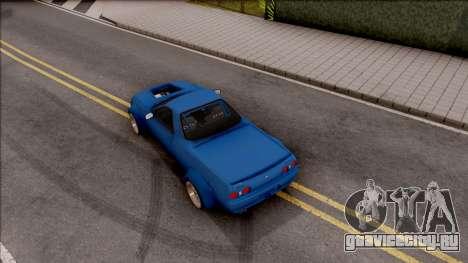 Nissan Skyline R32 Pickup Rocket Bunny v2 для GTA San Andreas вид сзади