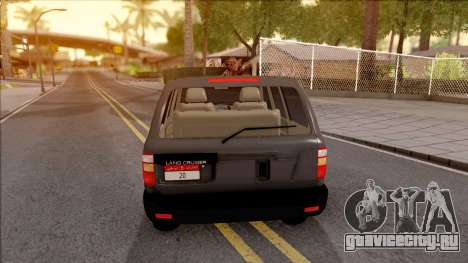 Toyota Land Cruiser 2005 для GTA San Andreas вид сзади слева