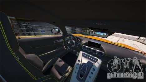 Mercedes-Benz AMG GT S 2016 для GTA 5 вид сзади слева