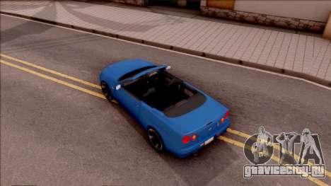 Nissan Skyline R34 Cabrio для GTA San Andreas вид сзади