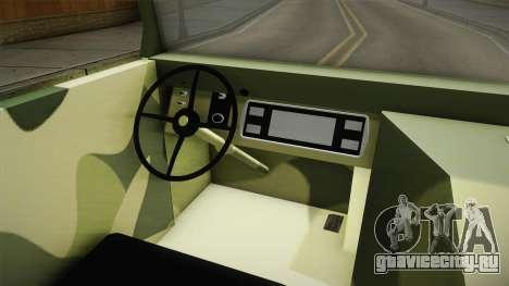 TAM 110 Vojno Vozilo для GTA San Andreas вид изнутри