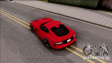 Dodge SRT Viper GTS 2012 для GTA San Andreas вид сзади
