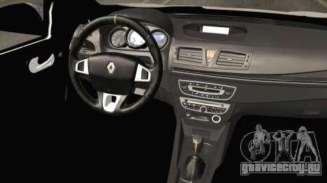 Renault Fluence PlayBoy для GTA San Andreas вид изнутри