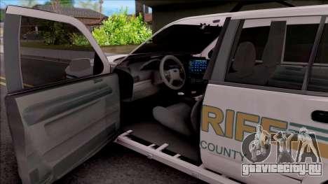 Ford Explorer 2002 Boone County Sheriff Office для GTA San Andreas вид изнутри