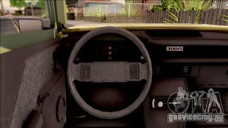 Zastava Poly 1.1 Vojni Auto для GTA San Andreas вид изнутри