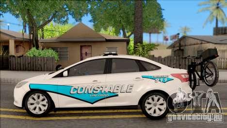 Ford Focus 2013 Flint County Constable Office для GTA San Andreas вид слева