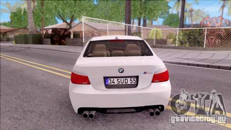 BMW M5 E60 SUDKİNG для GTA San Andreas вид сзади слева