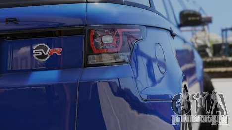 2014 Range Rover Sport SVR 5.0 V8 для GTA 5 вид сзади