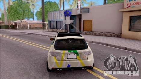 Subaru Impreza Google Street View Car для GTA San Andreas вид сзади слева