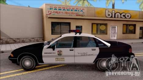 Chevrolet Caprice Police LSPD для GTA San Andreas вид слева