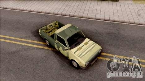 Zastava Poly 1.1 Vojni Auto для GTA San Andreas вид справа