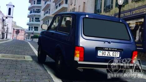 Vaz 2121 Niva для GTA 4 вид сзади слева