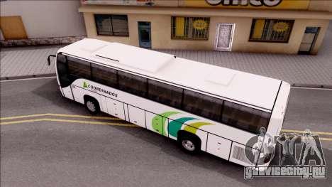 Volvo 9700 Coordinados Bus Mexico для GTA San Andreas вид сзади